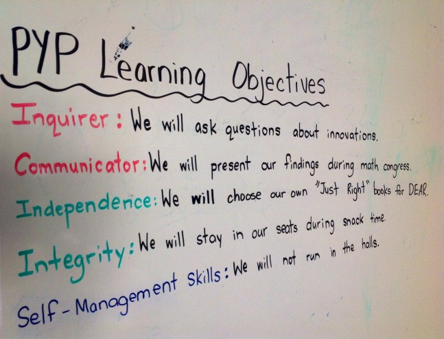 PYP Learning Objectives