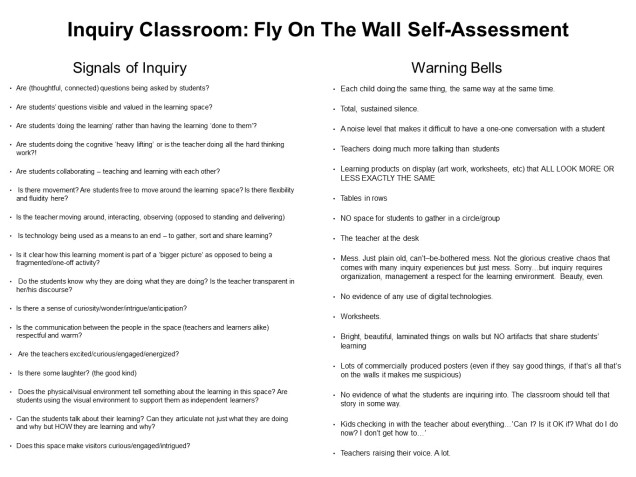 Inquiry Self-Assessment