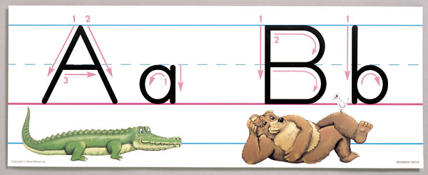 It is a photo of Alphabet Strip Printable intended for fundation