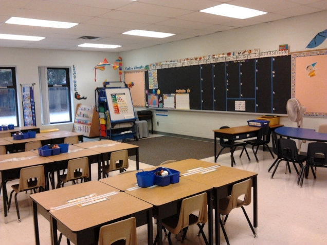 classroom on the first day